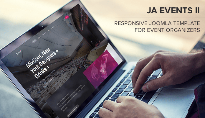 Review: JA Events II - Joomla template for event